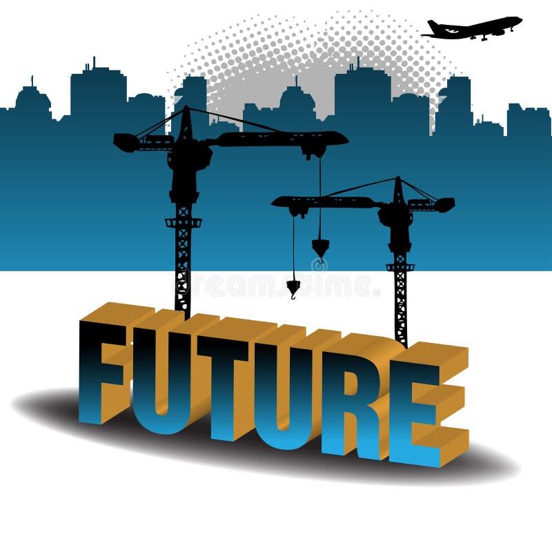 De bouw van de toekomst vector illustratie
