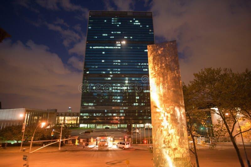 De Bouw van de Verenigde Naties stock afbeelding
