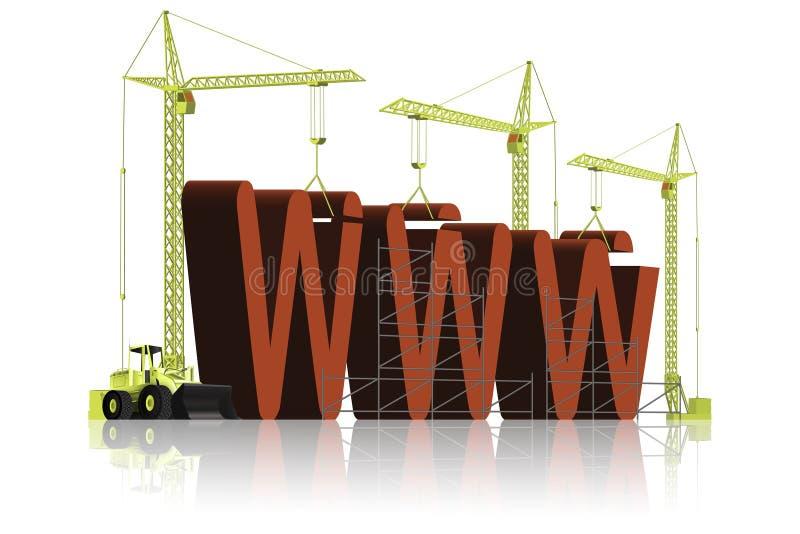 De bouw van de website royalty-vrije illustratie