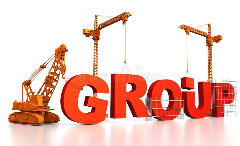 De bouw van een Groep stock illustratie