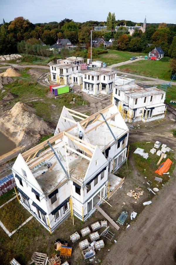 De bouw van een nieuw familiehuis royalty-vrije stock foto's