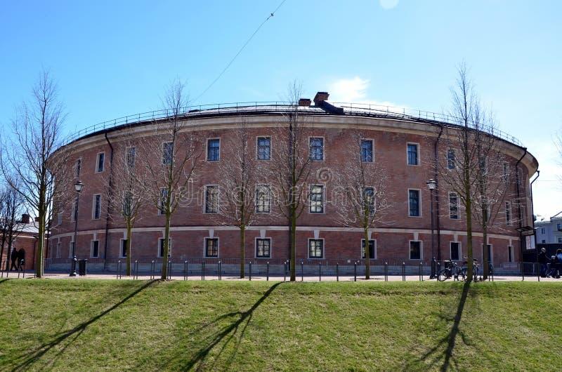 De bouw van gevangenis in Nieuwe Holland Island royalty-vrije stock foto's