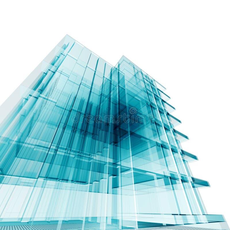 De bouw van het bureau vector illustratie