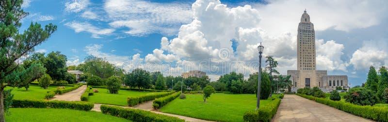 De Bouw van het Capitool van de Staat van Louisiane stock foto's