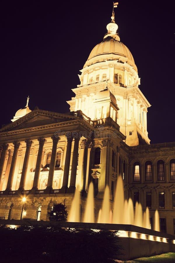 De Bouw van het Capitool van de staat in Springfield stock foto's