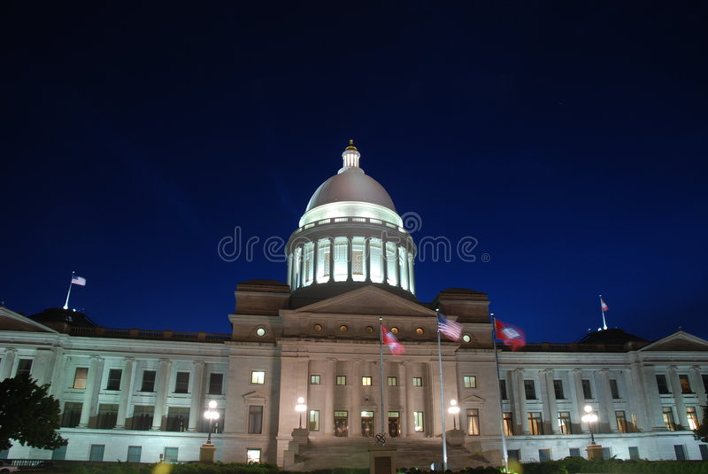 De Bouw van het Capitool van de Staat van Arkansas royalty-vrije stock foto