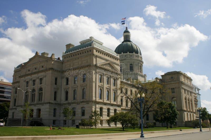 De Bouw van het Capitool van de Staat van Indiana stock foto