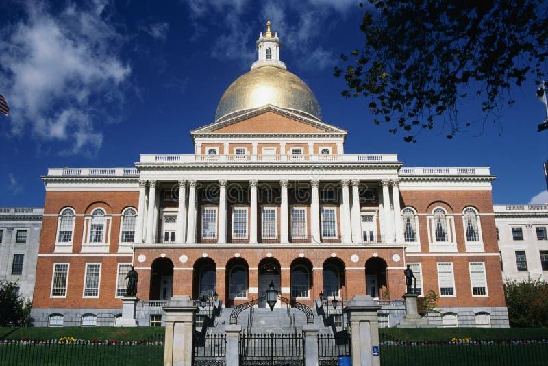 De Bouw van het Capitool van de Staat van Massachusetts stock foto