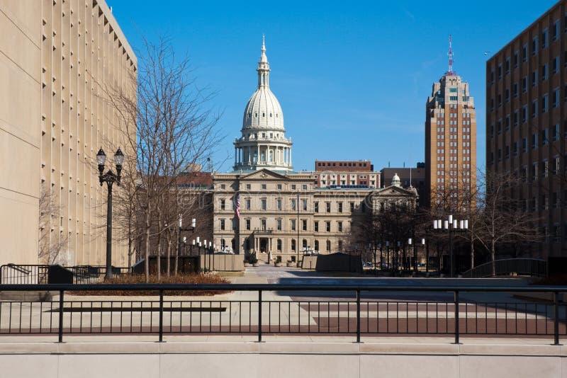 De Bouw van het Capitool van de Staat van Michigan stock foto