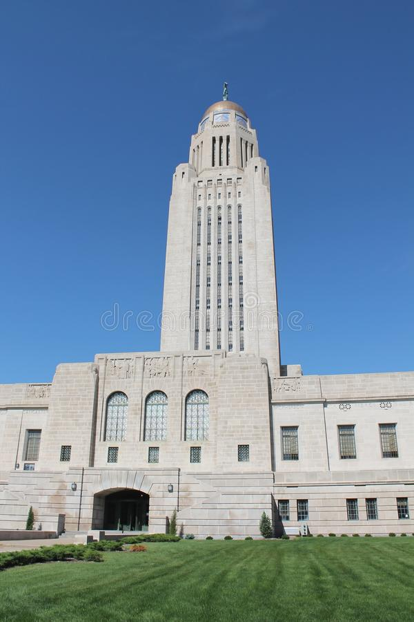 De Bouw van het Capitool van de Staat van Nebraska royalty-vrije stock afbeelding