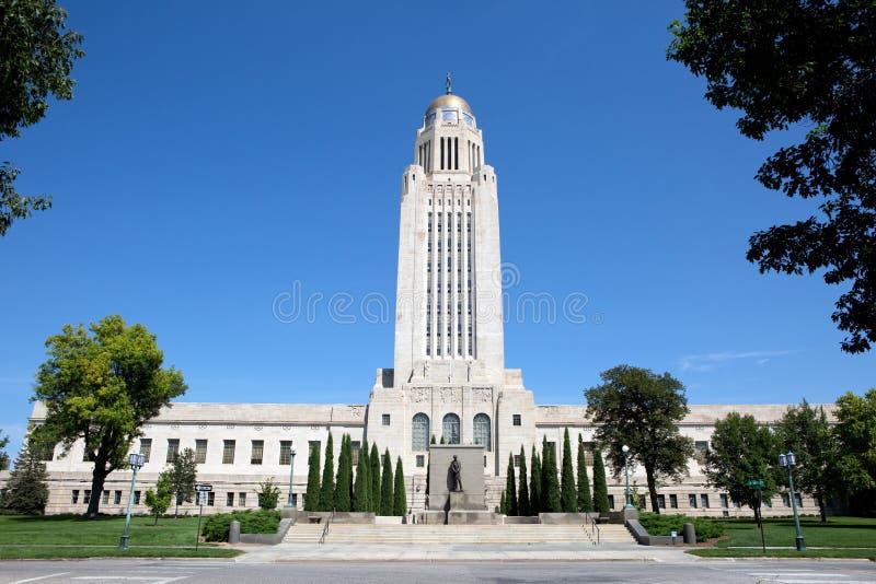 De Bouw van het Capitool van de Staat van Nebraska stock foto