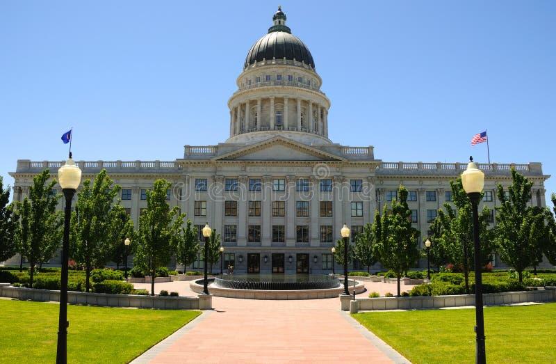 De Bouw van het Capitool van de Staat van Utah stock afbeelding