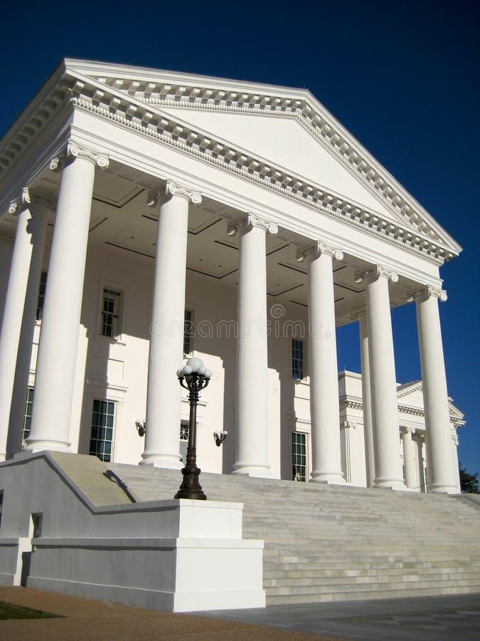 De Bouw van het Capitool van de Staat van Virginia stock afbeelding