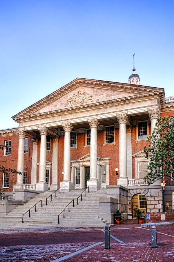 De Bouw van het Capitool van het Huis van de Staat van Maryland in Annapolis stock afbeeldingen