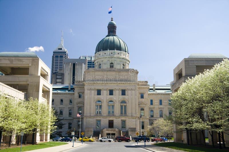 De Bouw van het Capitool van Indiana stock fotografie