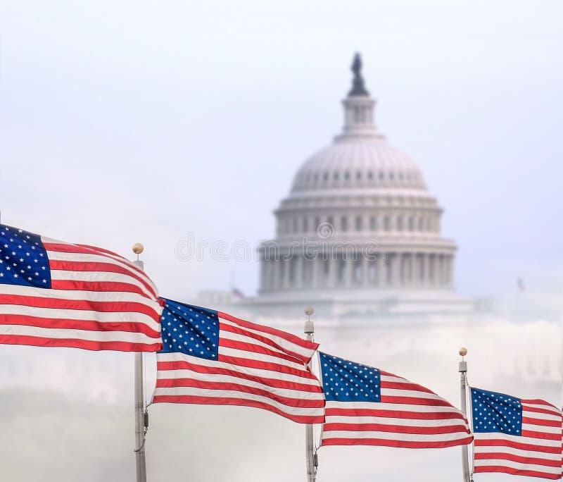 De Bouw van het Capitool in Washington stock foto's
