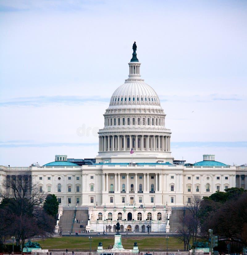 De Bouw van het Capitool, Washington DC stock afbeelding