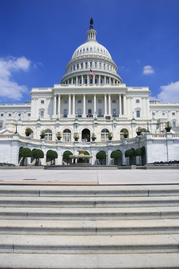 De Bouw van het Capitool in Washington DC royalty-vrije stock fotografie