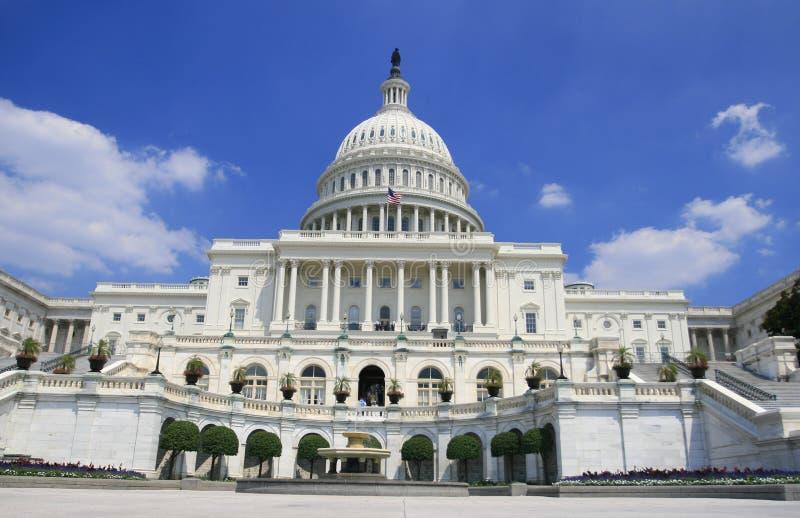 De Bouw van het Capitool in Washington DC stock foto