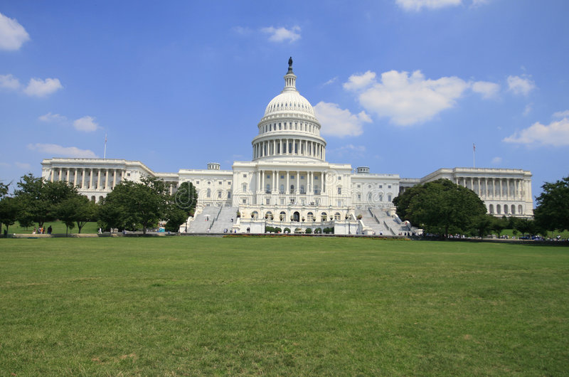 De Bouw van het Capitool in Washington DC royalty-vrije stock foto's