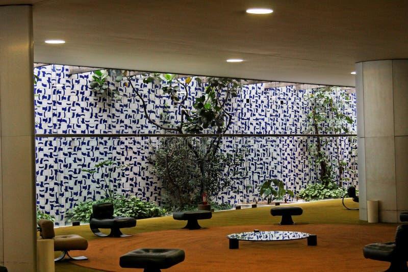 De Bouw van het congres in Brasilia stock foto