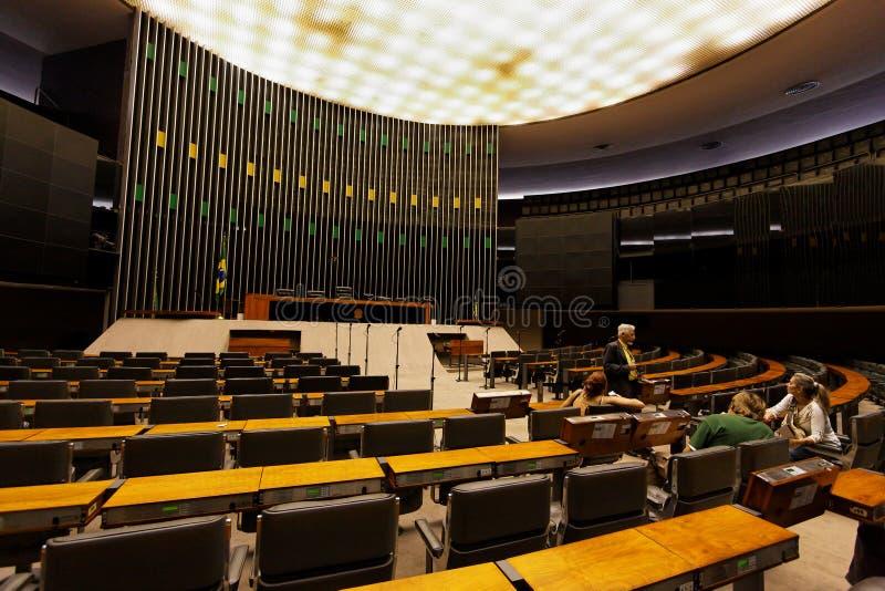 De Bouw van het congres in Brasilia royalty-vrije stock afbeelding