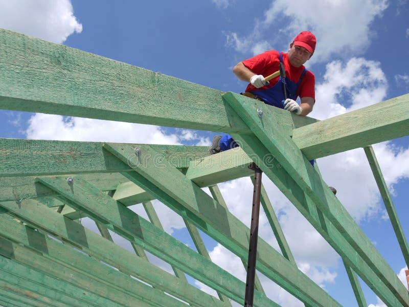 De bouw van het dak royalty-vrije stock fotografie