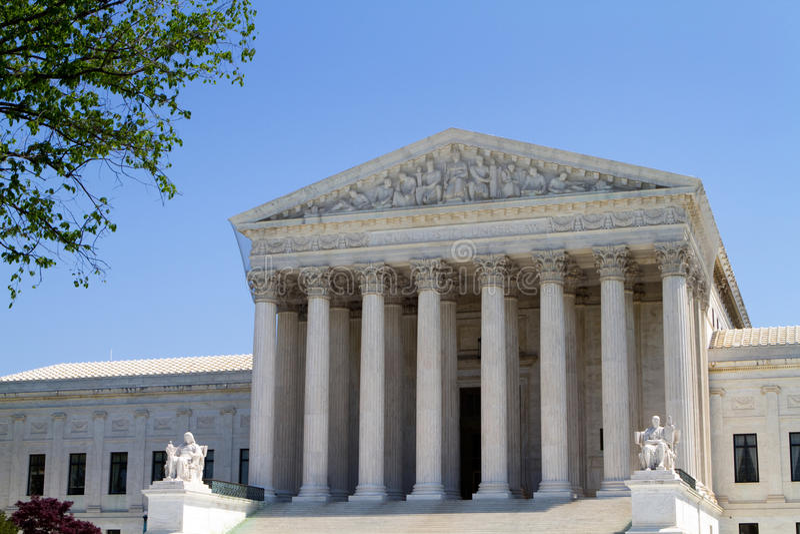 De Bouw van het Hooggerechtshof van de V.S. royalty-vrije stock afbeelding