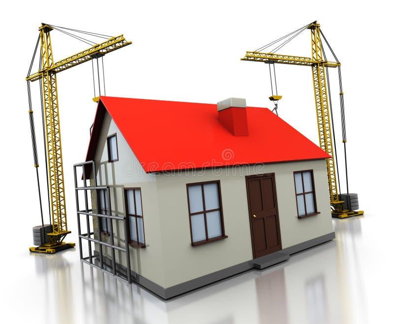 De bouw van het huis royalty-vrije illustratie