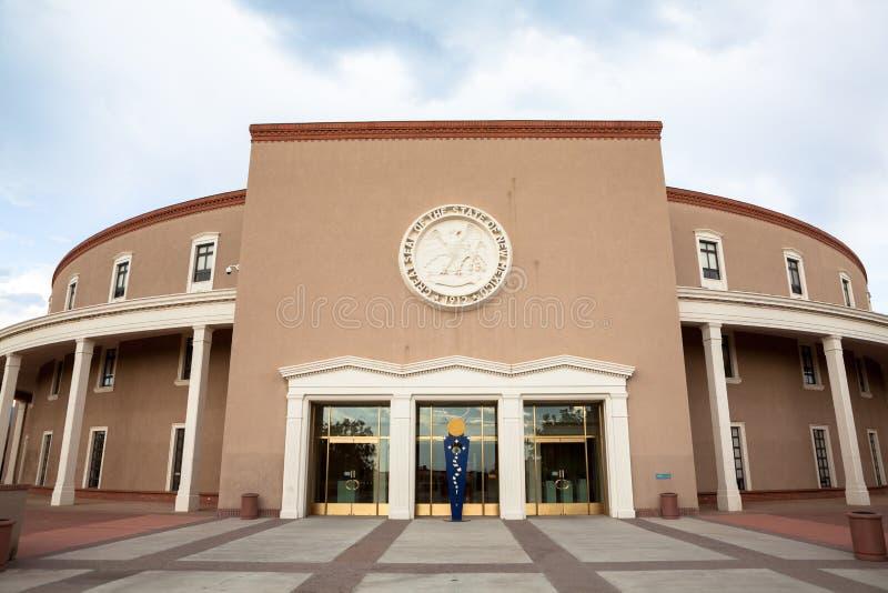 De Bouw van het Huis & van het Capitool van de Staat van New Mexico stock afbeeldingen