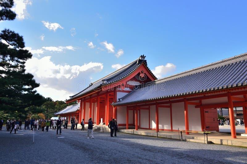De bouw van het Keizerpaleis van Kyoto, Japan stock afbeeldingen