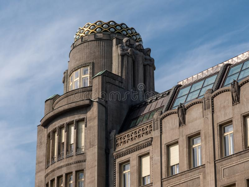 De Bouw van het kroonpaleis in Praag, Tsjechische Republiek stock fotografie