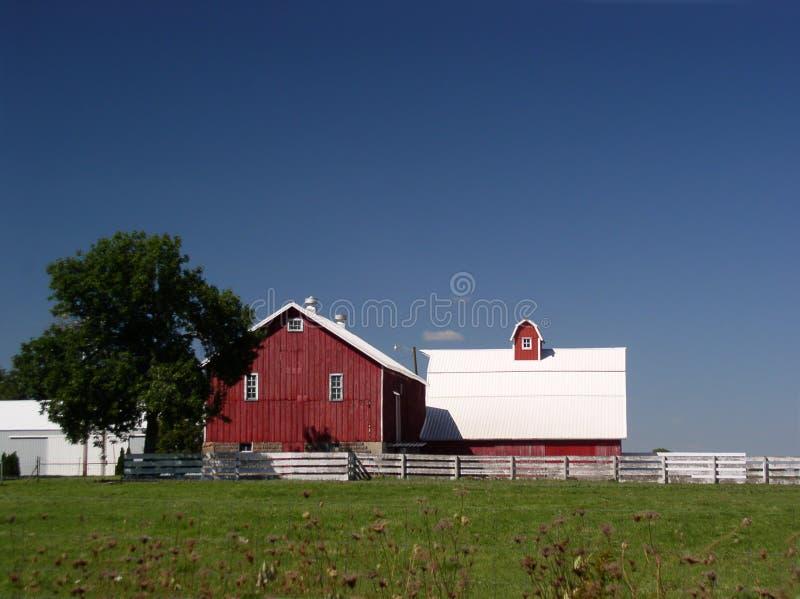 De bouw van het landbouwbedrijf grote vlaktes stock afbeelding
