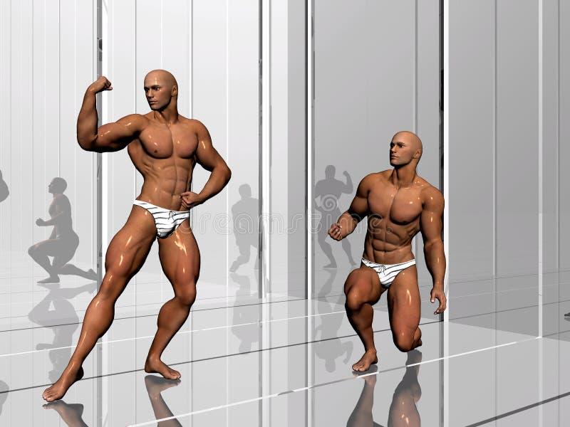 De bouw van het lichaam, levensstijl. royalty-vrije illustratie