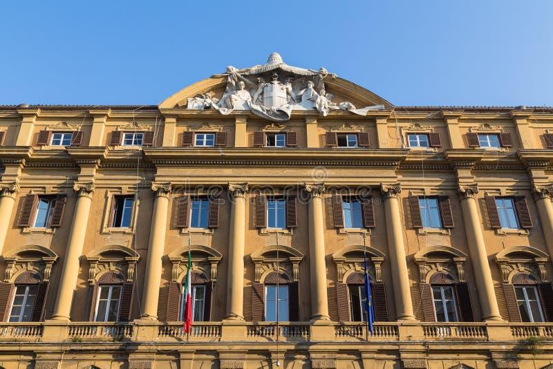 De bouw van het Ministerie van Financiën (Ministero-dell'Economia E-D stock fotografie