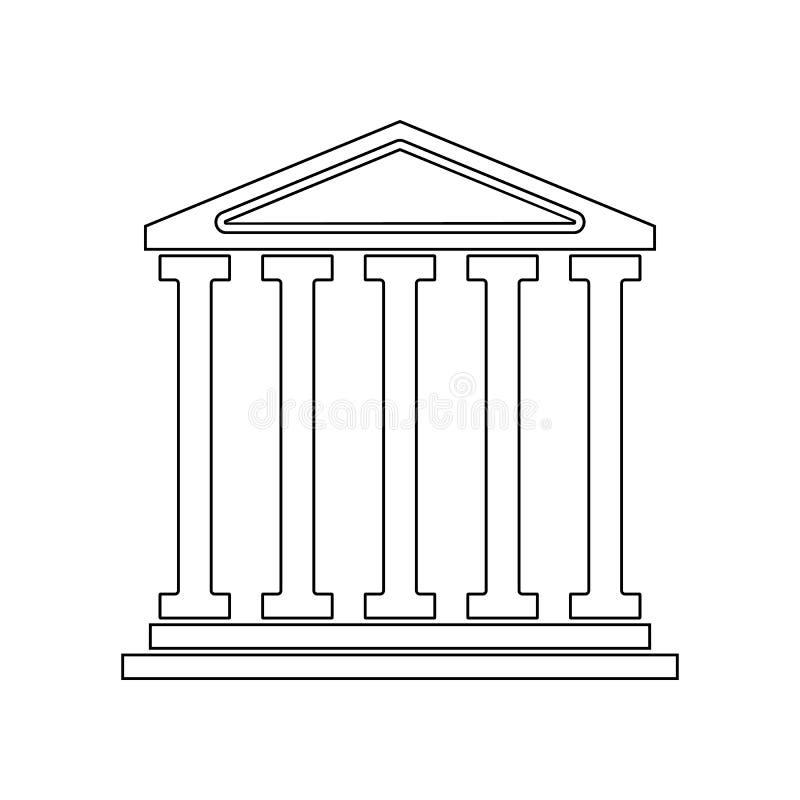 de bouw van het oude theaterpictogram Element van Theater voor mobiel concept en webtoepassingenpictogram Overzicht, dun lijnpict stock illustratie