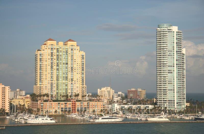 De Bouw van het Strand van Miami stock afbeeldingen