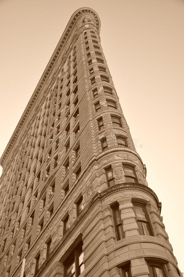 De Bouw van het strijkijzer in de Stad van New York stock afbeeldingen