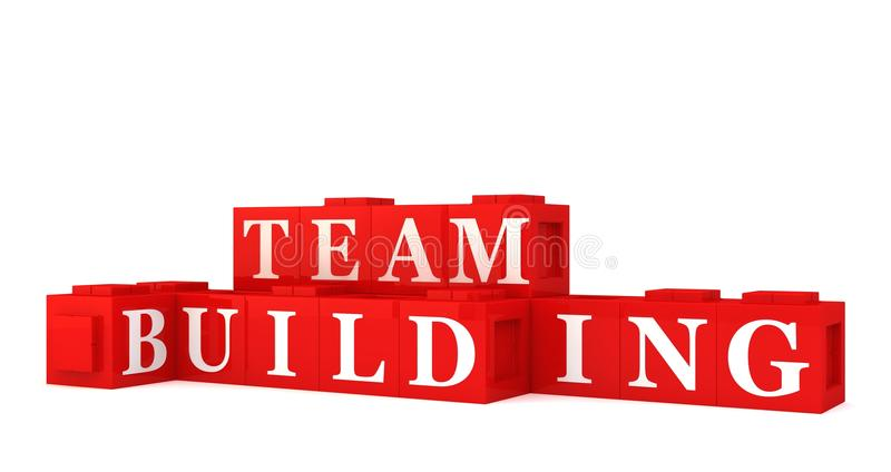 De bouw van het team teken stock illustratie