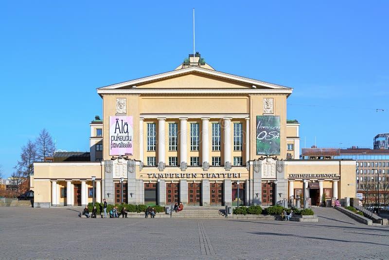 De bouw van het Theater van Tampere, Finland royalty-vrije stock foto's