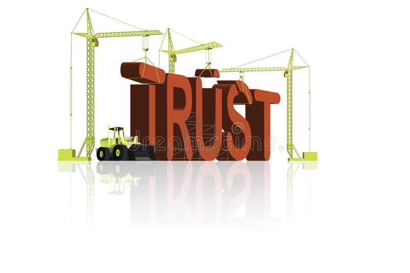 De bouw van het vertrouwen stock illustratie