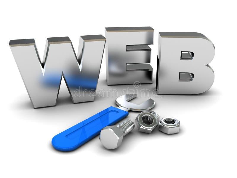 De bouw van het Web royalty-vrije illustratie
