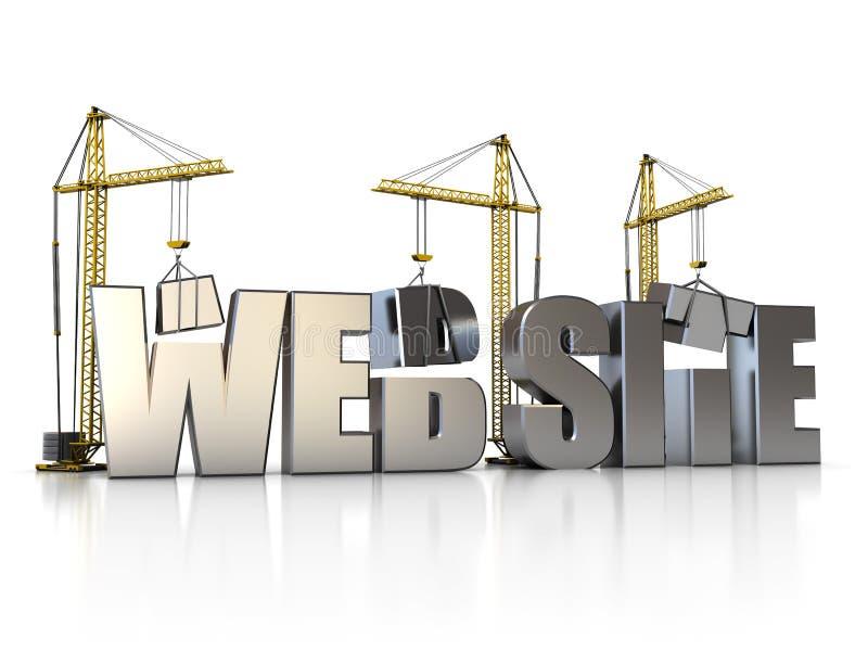 De bouw van het Web stock illustratie