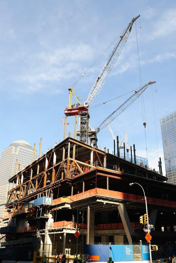 De Bouw van het World Trade Center stock foto's