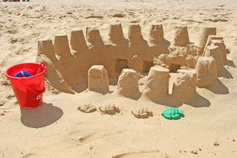De bouw van het zand royalty-vrije stock foto