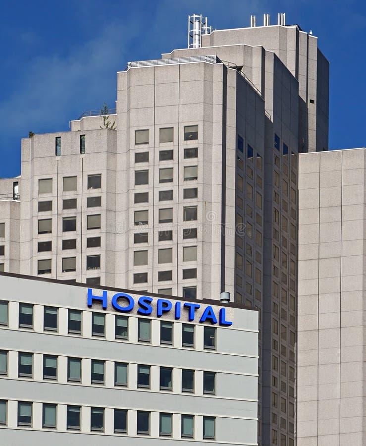 De bouw van het ziekenhuis stock fotografie