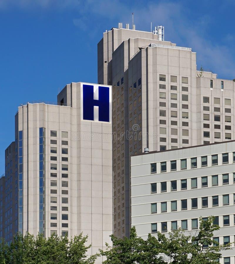 De bouw van het ziekenhuis stock foto's