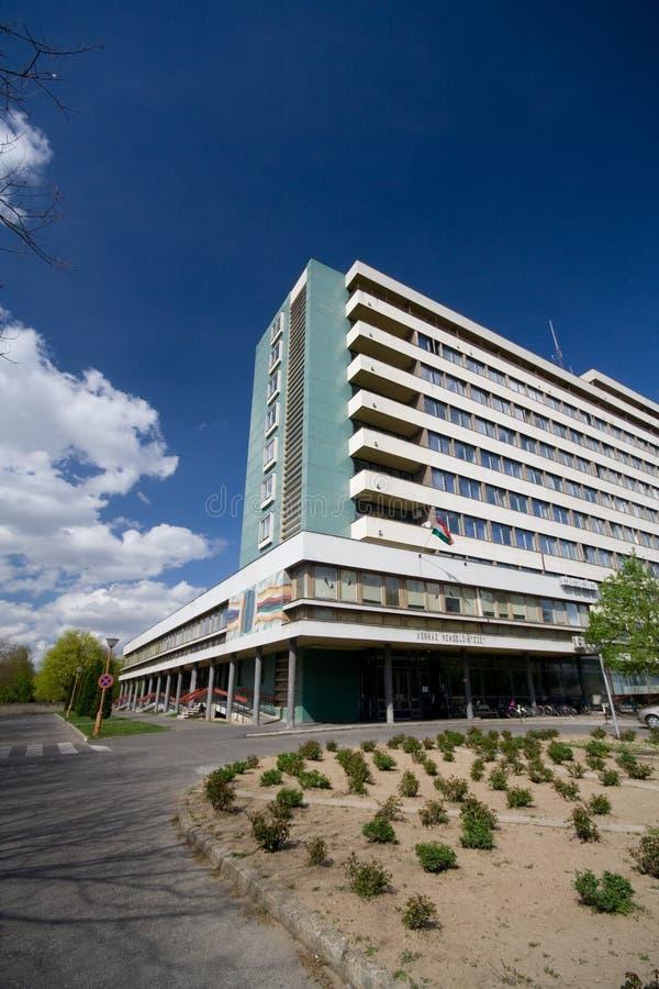 De bouw van het ziekenhuis openlucht royalty-vrije stock foto's