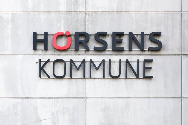 De bouw van de Horsensgemeente in Denemarken royalty-vrije stock fotografie