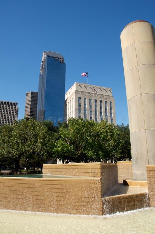 De bouw van Houston Texas royalty-vrije stock afbeeldingen